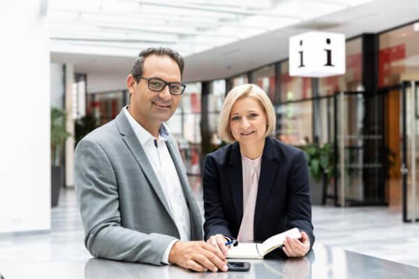WK-Präsident Christoph Walser und WK-Direktorin Evelyn Geiger-Anker