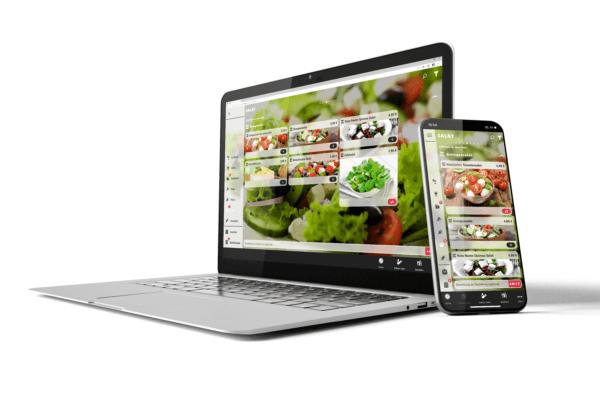 Eine digitale Speisekarte.