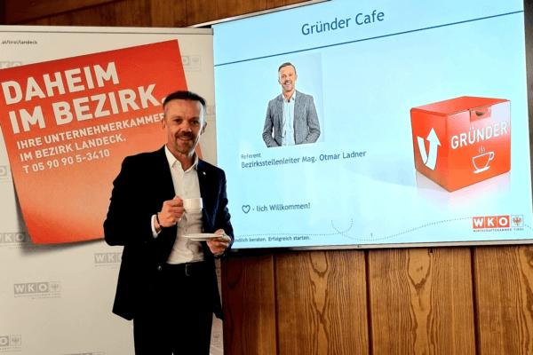 Bezirksstellenleiter Otmar Ladner lädt alle Interessierten zum Gründer-Café in Landeck ein.