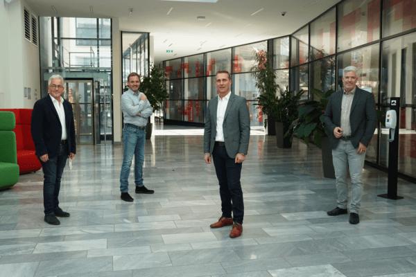 Winfried Vescoli (FW Tirol), Helmut Reichholf (Grüne Wirtschaft), Bezirksobmann Franz Jirka (WB), Stefan Gleinser (UNOS) (v.l.).