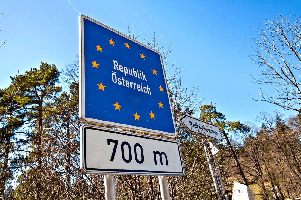 Schild Republik Österreich