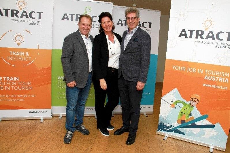 Atract Co-Gründer Alexander Prachensky, Karin Lindner und Josef Kirchmair (v.l.)