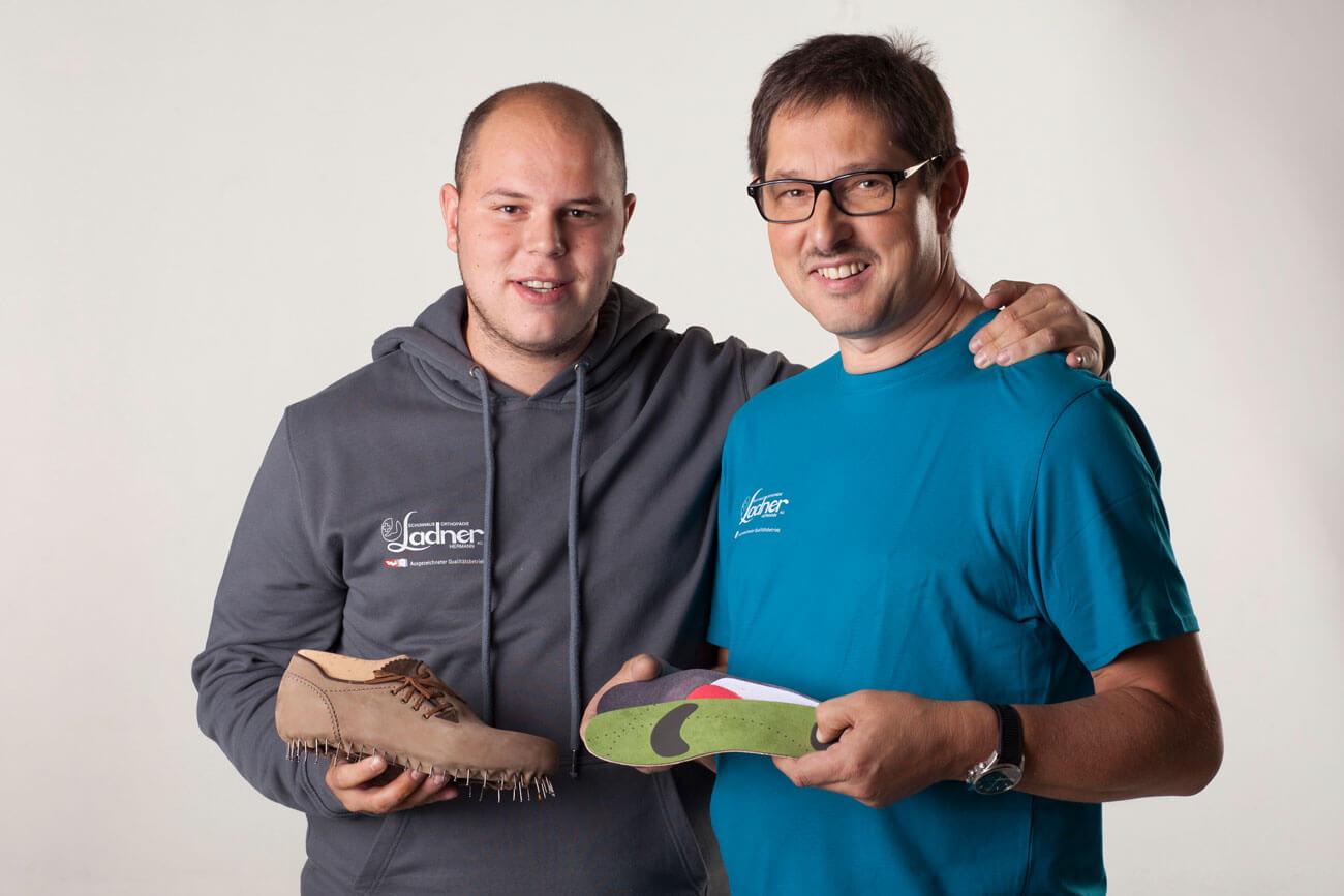 Hermann Ladner junior (im Bild links) und Hermann Ladner senior