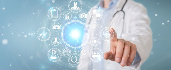 Arzt mit Stethoskop - symbolisch für die Ligamed medical products GmbH