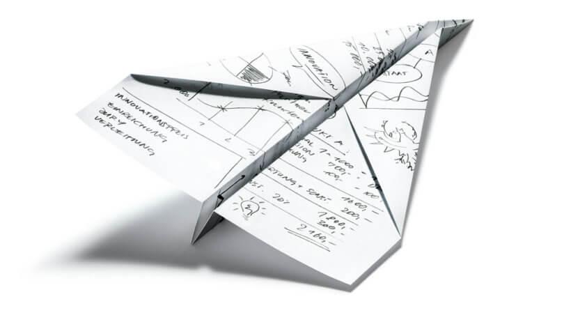 Logo Innovationspreis Papierflieger