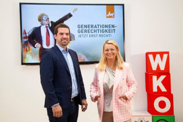 Christiane Holzinger, Bundesvorsitzende der Jungen Wirtschaft Österreich und Dominik Jenewein, Landesvorsitzender der Jungen Wirtschaft Tirol über den Neustart der Tiroler Jungunternehmer.