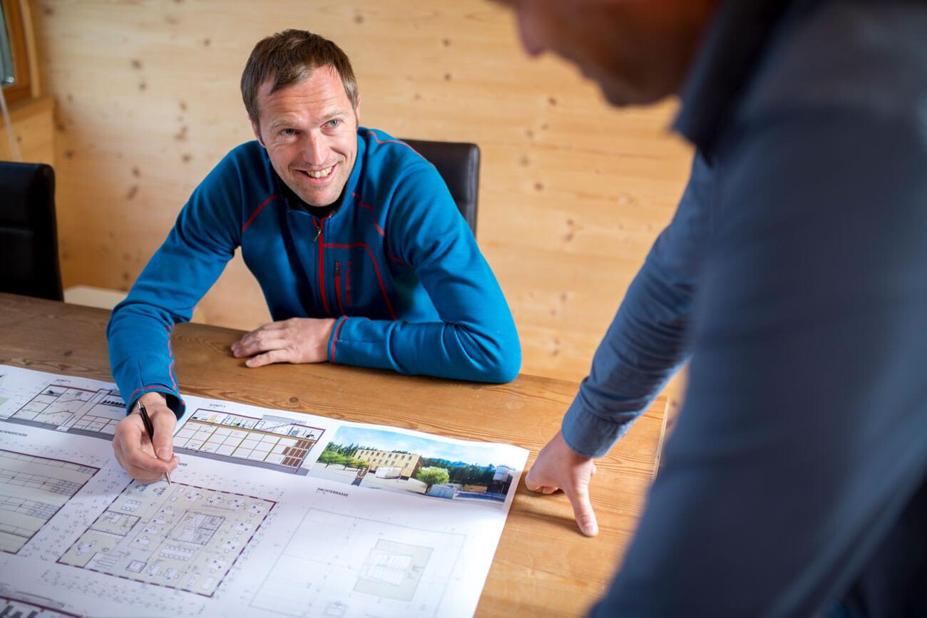Firmenchef Leonhard Unterrainer setzt Visionen um.