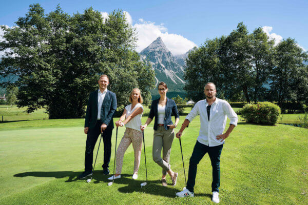 Der neue Vorstand der JW Reutte: Markus Wolf, Simone Nocker, Carina Rief und Dominik Somweber.