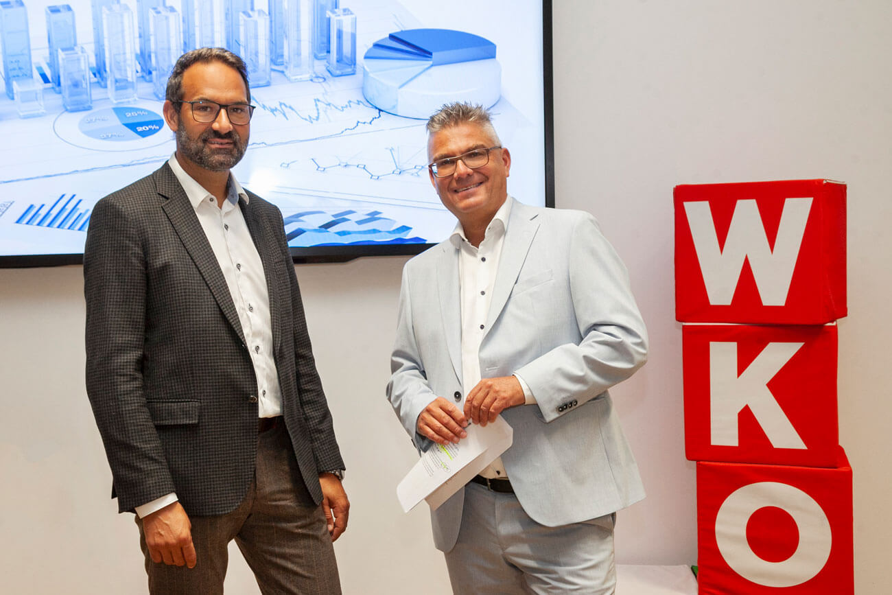 WK-Präsident Christoph Walser und Stefan Garbislander