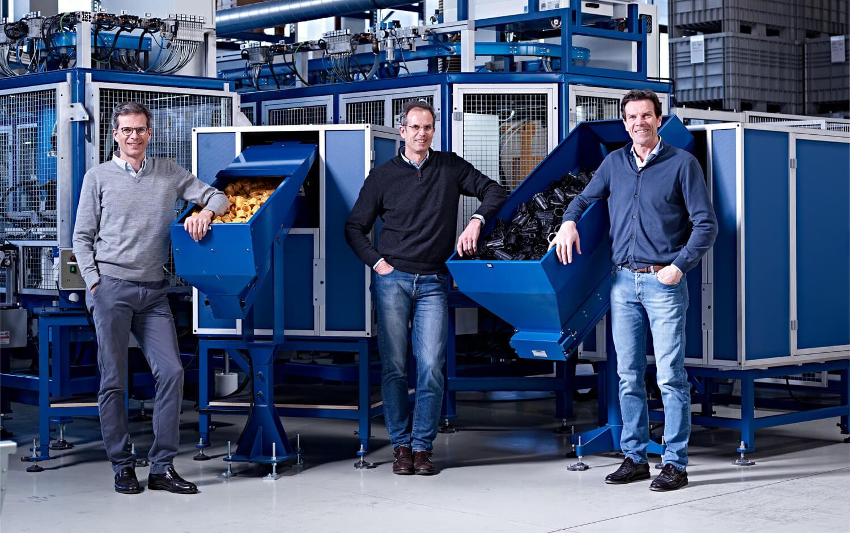 Hugo, Viktor und Arno Drechsel führen das Familienunternehmen Komet Austria