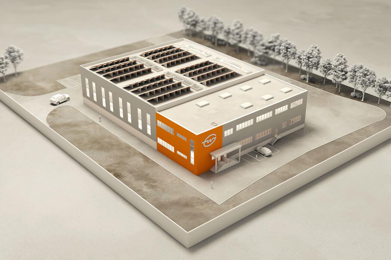 Modell Logistik-Hub Reutte